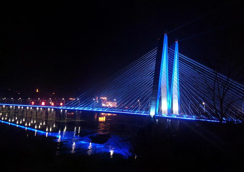 河源迎客大橋-亮化工程設計