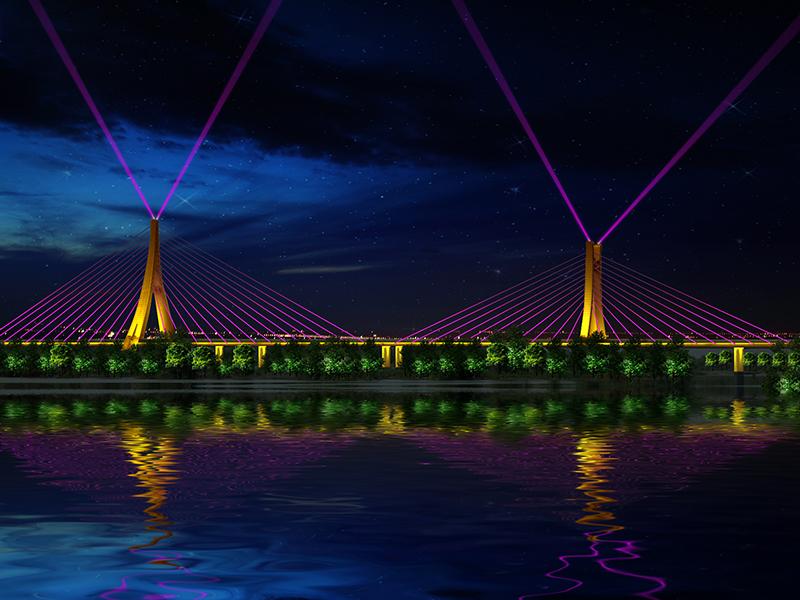 凌波大橋投光索-亮化工程設計