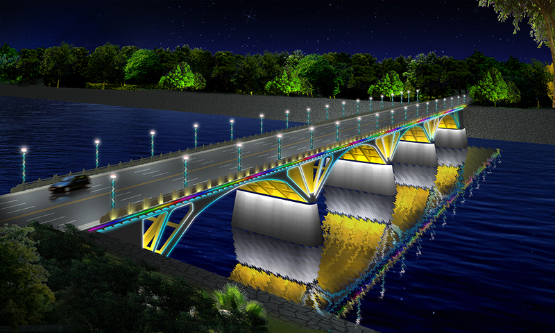 天城大橋-橋梁亮化工程