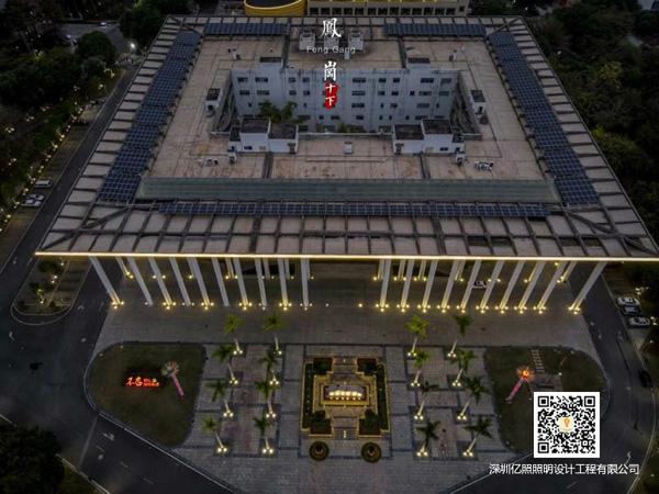 東莞鳳崗鎮街道城市夜景道路亮化工程項目