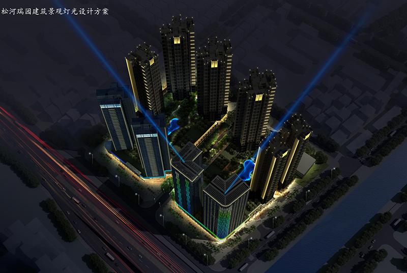 西南向人视图-商业住宅亮化设计